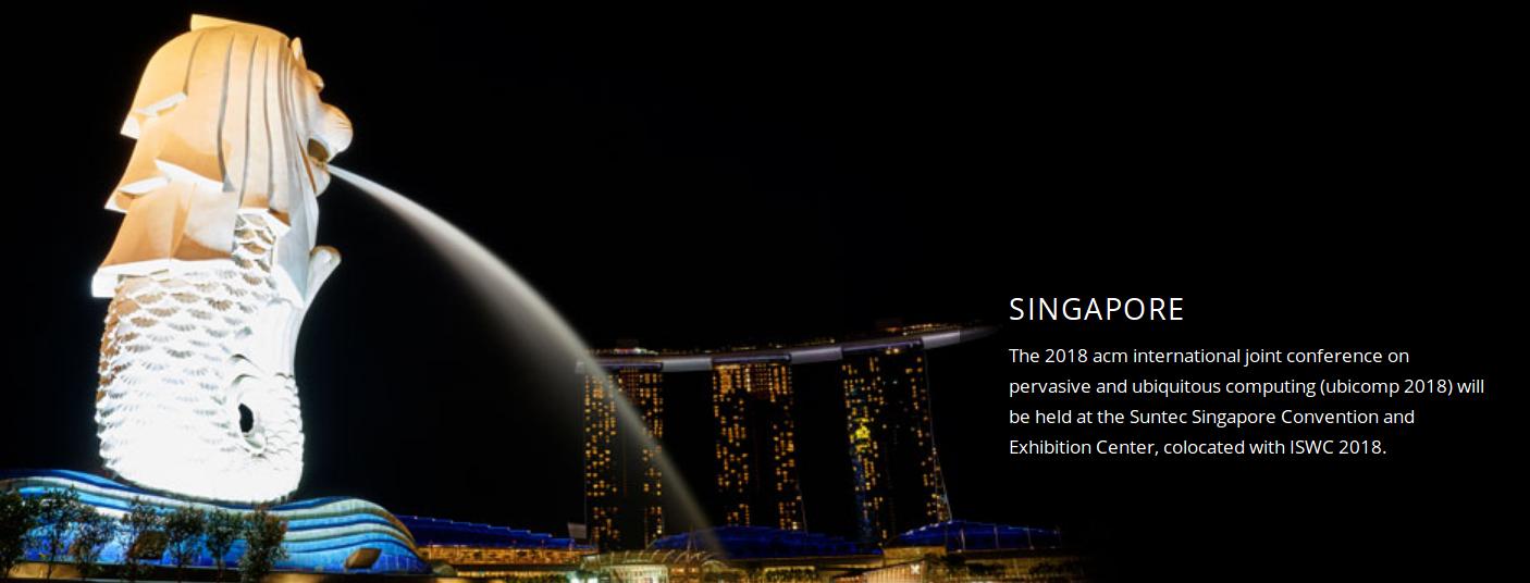 UbiComp Conference, Singapore – October
